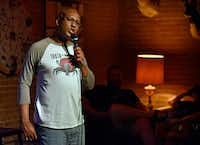 Comedian Byron Stamps performs during the Truth in Comedy show at Full City Rooster in Dallas on June 3, 2018. Stamps is also the creator of the show, where pre-selected individuals share personal stories and a comedian creates a set based on the story.(Ben Torres/Special Contributor)