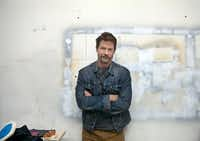 Artist Erick Swenson at his Dallas studio.(Nan Coulter/Special Contributor)