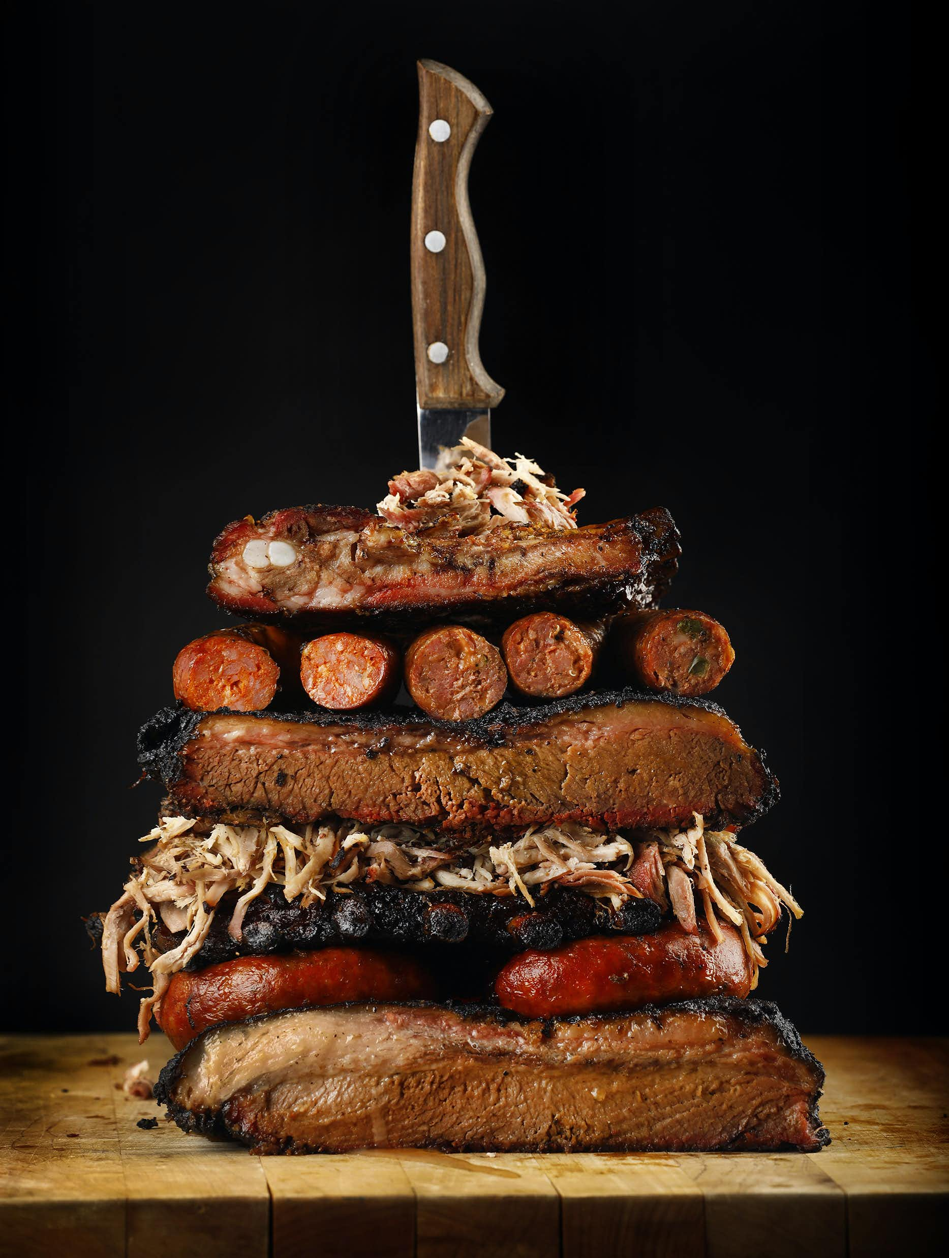 Brisket, ribs, pulled pork and sausage are among the fatty meats that could be staples of the keto diet.(Tom Fox/Staff Photographer)