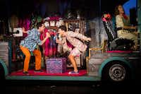 Blake McIver (center) plays Adam/Felicia, Kelly Groves (left) plays Tick/Mitzi and Jack Donahue (right) plays Bernadette in&nbsp;<i>Priscilla, Queen of the Desert&nbsp;&nbsp;</i>by Uptown Players at Kalita Humphreys Theater.(Smiley N. Pool/Staff Photographer)