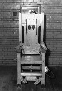 The Texas electric chair. Ladies, avert your gaze.(AP )
