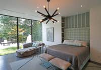 A master bedroom with LED lights at Lynn Rush's LEED Platinum-certified home in Addison, Texas, Wednesday, July 11, 2018. (Jae S. Lee/The Dallas Morning News)(Jae S. Lee/Staff Photographer)