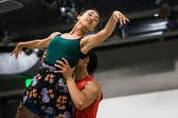 Amanda Fairweather and Adrián Aguirre rehearse for the upcoming debut of AKA:ballet, a summer dance project conceived by choreographer Carter Alexander.(Carly Geraci/Staff Photographer)