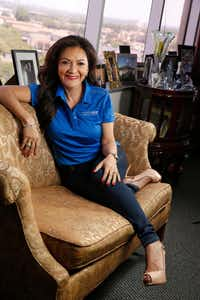 A portrait of Nina Vaca, owner of Dallas-based Pinnacle Group, at her office in Dallas on May 26, 2017.  (Nathan Hunsinger/The Dallas Morning News)(Nathan Hunsinger/Staff Photographer)
