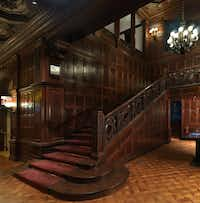 The grand staircase is one of the standout architectural features at the Cooper Hewitt, Smithsonian Design Museum.(Matt Flynn/<p>Cooper Hewitt, Smithsonian Design Museum</p>)