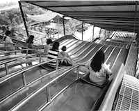 A 'super slide' that opened at Six flags in 1969. It's not the Texas Giant but it sure is something.  (Joe Laird/The Dallas Morning News)