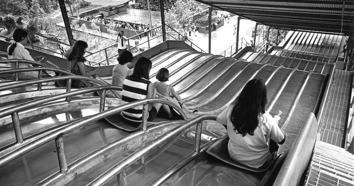 Before the Texas Giant, Six Flags had performing dolphins and a super slide...