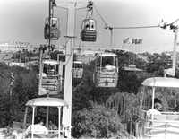 The futuristic Astrolift was one of the original rides at Six Flags in 1961 but was removed in 1980 due to expensive repair needs and decreased ridership among other factors.(Joe Laird/The Dallas Morning News)