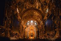 The Rosary Chapel at the Church of Santo Domingo is a breathtaking room, with gold-leafed ceilings and walls.(Ministry of Culture and Tourism of the State of Puebla, Mexico/ )