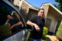 Leonardo Alvarez, 38, outside of his home in Arlington, Monday morning, May 28, 2018. Alvarez, originally of the Mexican state of Guanajuato, had to pay for a $20,000 immigrant bond. (Ben Torres/Special Contributor)