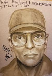 The shooting suspect was described by witnessed as white or Hispanic man around 30 years old.(Houston Police Department)
