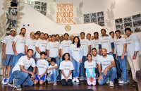 Employees from ITServe companies volunteered to pack meals for the North Texas Food Bank. (Courtesy)
