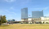 The development site is across the tollway from Liberty Mutual Insurance's Plano regional office center.(Steve Brown)
