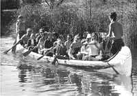 Six Flag goers could also enjoy a canoe ride while at the park. (Larry Reese/The Dallas Morning News)
