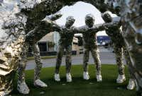 'Huddle,' a sculpture by Tom Friedman, at The Star in Frisco(Vernon Bryant/Staff Photographer)