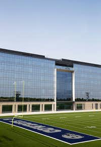 One of the Dallas Cowboys' two outdoor practice fields at the team's headquarters at The Star in Frisco (Vernon Bryant/Staff Photographer)