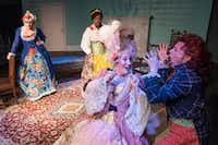 Dani Holway (from left), Sky Williams, Jennifer Kuenzer and Marianne Galloway star in <i>The Revolutionists</i>, which runs through Aug. 5. The play is put on by Imprint Theatreworks, a new company emphasizing ensemble theater. (Rex C. Curry/Special Contributor)