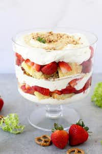 Sweet and Salty Strawberry Cream Trifle(Kristen Massad/Special Contributor)