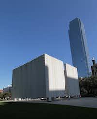 The JFK Memorial in downtown Dallas on Nov. 12, 2013.(David Woo/Staff Photographer)