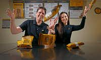 """<p><span style=""""font-size: 1em; background-color: transparent;"""">Which Wich, founded in Dallas in 2003 by Jeff and Courtney Sinelli, currently has 434 units across 42 states in 11 countries and they don't plan to stop growing. In fact,</span><span style=""""font-size: 1em; background-color: transparent;"""">Jeff envisions an expansion of to 70 stores per year.</span></p>(Jae S. Lee/Staff Photographer)"""