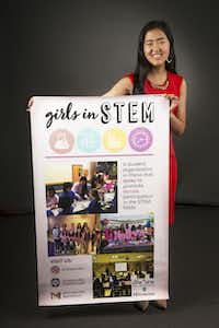 Alice Hou, founder of Girls in STEM, poses for a photograph at The Dallas Morning News on July 24, 2018. (Carly Geraci/Staff Photographer)