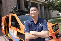 "Conway Chen of Drive.ai said the company looked to Texas because of its regulatory environment, its population growth and its receptive cities. He said the pilot will be another ""touch point"" that helps the public become more comfortable with the new kind of transportation . (Jason Janik/Special Contributor)"