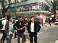 <p>From left to right, Maria Herrera, Jorge Niño, Jeimmy Leyva and Israel Concha walk the neighborhood known as Little LA. on April 23, 2018, in Mexico City. All formed an NGO known as New Beginnings, Nuevos Comienzos to help Mexicans repatriated from the United States.</p><p></p>(Alfredo Corchado/Staff photographer)