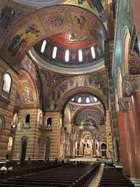 The Byzantine-influenced interior of the Cathedral Basilica of St. Louis boasts one of the world's largest expanses of mosaics. (Scott Cantrell/Special Contributor)