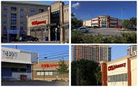 Clockwise from top left: CVS stores located at 108 West Davis St., 3030 Sylvan Ave., 3133 E. Lemmon Ave. and 4930 Maple Ave. in Dallas on Wednesday, June 13.(Jae S. Lee/Staff Photographer)