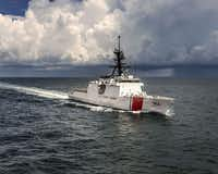 The U.S. Coast Guard cutter, Hamilton, on patrol.(U.S. Coast Guard)