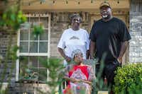 From top left, Gloria Johnson, James Hamilton and Pauline Hamilton, all of Dallas, in front of their home on Amos Street in West Dallas, which is block over from Andy Street(Carly Geraci/Staff Photographer)