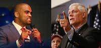 "<p><span style=""font-size: 1em; background-color: transparent;"">Democrat Colin Allred (left) is challenging Republican U.S. Rep. Pete Sessions in the 32nd Congressional District.</span></p>(Photos by Andy Jacobsohn/Staff Photographer)"