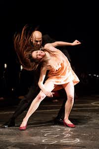 Stephanie Troyak and Oleg Stepanov in an intense scene from Pina Bausch's <i>The Seven Deadly Sins</i>.(Oliver Look)