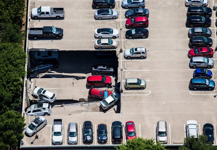 Another Section Of Irving Parking Garage Caves In Hours After