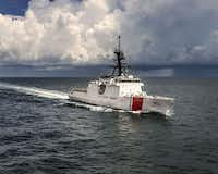 U.S. Coast Guard cutter Hamilton, which intercepted an alleged Chinese cocaine smuggling vessel in the eastern Pacific Ocean in November 2016.(U.S. Coast Guard)