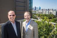 "<p><span style=""font-size: 1em; background-color: transparent;"">Forest City senior vice president Jim Truitt (left) and&nbsp;</span><span style=""background-color: transparent; font-size: 1em;"">Brian Ratner, the company's Texas president,&nbsp;</span><span style=""font-size: 1em; background-color: transparent;"">pose for a photograph near the pool.</span></p><p></p><p></p>(Carly Geraci/Staff Photographer)"