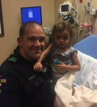 Plano police Officer Coy Clements and Ariana Yousif (Facebook/Plano Police Department)