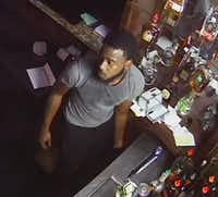 Surveillance footage shows the man who broke into two Camp Bowie West Boulevard restaurants July 23. (Fort Worth Police Department)