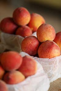 Texas peach season's winding down, though there might still be fresh peaches available at farmers markets into September.(Andy Jacobsohn/Staff Photographer)