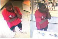 Police are asking for the public's help in identifying a man who stole cellphones from an AT&T store in West Dallas. (Dallas Police Department)