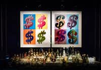 "Andy Warhol's ""Dollar Sign (Quad)"" screen prints are part of the art collection on display at Palms Casino Resort.(Michael Hiller/Special Contributor)"