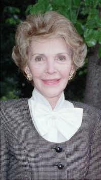 Nancy Reagan, shown in 1989(NICK UT/AP)