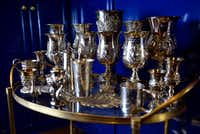 The collection of silver chalices celebrates major milestones in Whitman's life.(Ben Torres/Special Contributor)