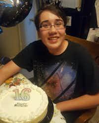 Lorenzo Fullen celebrates his 16th birthday.(Lori Fullen)