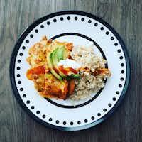 Veggie Enchiladas(Ashley Douglas/Special Contributor)