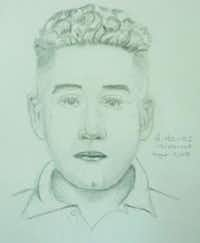 A composite sketch of the suspect in a sexual assault that occurred in June at an Old East Dallas nightclub.(Dallas Police Department)