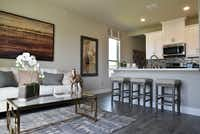 An extra suite inside a Lennar Homes model house in Far North Dallas totals around 600 square feet.(Ben Torres/Special Contributor)