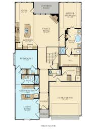 Lennar's NextGen Home floorpan includes a separate living unit for family members or defendants.(Lennar Homes)