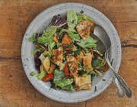 Fattoush, bread salad with cucumbers(Ellise Pierce/Special Contributor)