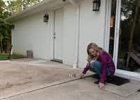 Lauren Alvarez renovated her Colleyville home in preparation for a profitable house flip. Her last remaining project is repairing her outdoor patio. But the concrete man she hired took her deposit and never did the job.(Rex C. Curry/Special Contributor)